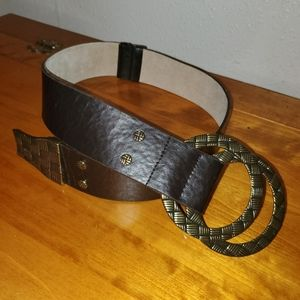 Chico's Size Big Hoops Buckle Belt Size: S…